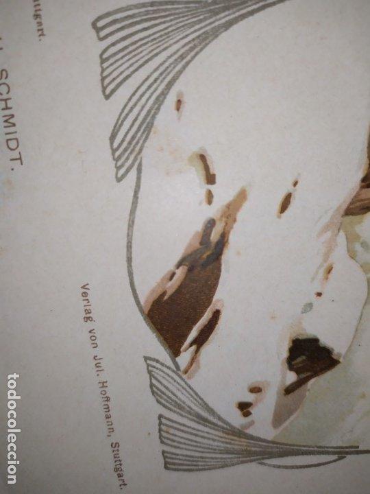 Arte: CROMOLITOGRAFIA DEKORATIVE VORBILDER JULIUS HOFFMANN VERLAG 6 LÁMINAS UNA DOBLE ÚNICAS - Foto 2 - 177965349