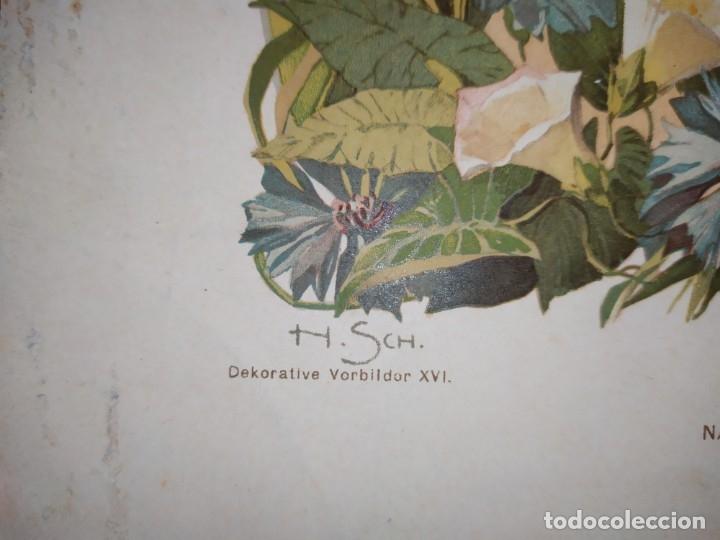 Arte: CROMOLITOGRAFIA DEKORATIVE VORBILDER JULIUS HOFFMANN VERLAG 6 LÁMINAS UNA DOBLE ÚNICAS - Foto 7 - 177965349