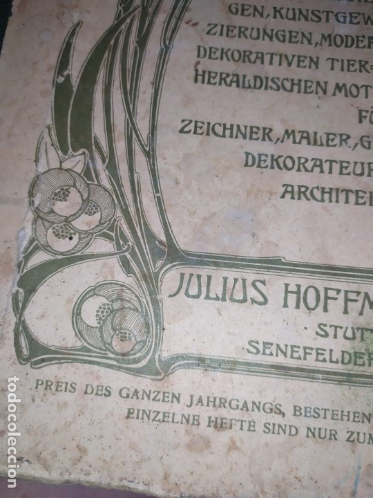 Arte: CROMOLITOGRAFIA DEKORATIVE VORBILDER JULIUS HOFFMANN VERLAG 6 LÁMINAS UNA DOBLE ÚNICAS - Foto 13 - 177965349