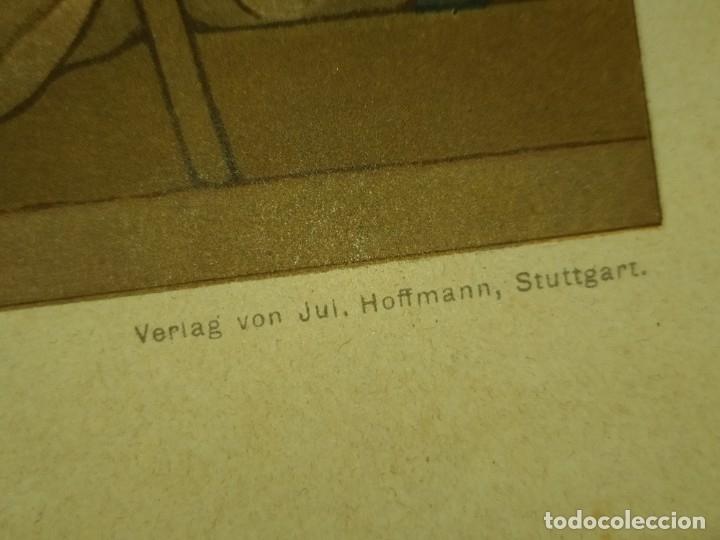 Arte: CROMOLITOGRAFIA DEKORATIVE VORBILDER JULIUS HOFFMANN VERLAG 6 LÁMINAS UNA DOBLE ÚNICAS - Foto 47 - 177965349