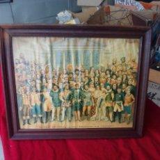 Arte: ANTIGUA CROMOLITOGRAFIA PANTEON UNIVERSAL DE LOS PERSONAJES MAS CELEBRES. Lote 182855191