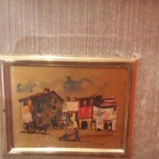 Arte: CUANDO PIQUEÑO DE CROMOLITOGRAFIA HECHA A MANO Y FIRMADA POR ANGELICO. Lote 183615981