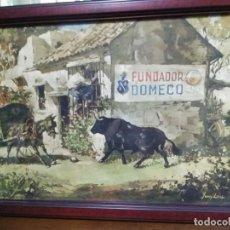 Arte: CROMOLITOGRAFIA ANTIGUA DE JUAN LARA - FUNDADOR DOMECQ. Lote 184760088