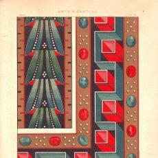 Arte: CROMOLITOGRAFIA C. 1890 J. ALEU ARTE BIZANTINO ORIAS MANUSCRITO SIGLO VIII Y IX RARA. Lote 188491715