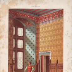 Art: CROMOLITOGRAFIA C. 1890 J. ALEU EUROPA EDAD MEDIA SALON CASTILLOMUY RARA. Lote 188519015