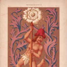 Arte: CROMOLITOGRAFIA C.1890 J. ALEU DECORACION RENACIMIENTO FRANCES RARA . Lote 188521926