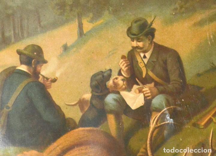 Arte: LA CAZA DEL CIERVO - CROMOLITOGRAFÍA SIGLO XIX - Foto 7 - 189305347