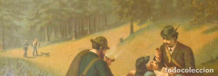 Arte: LA CAZA DEL CIERVO - CROMOLITOGRAFÍA SIGLO XIX - Foto 9 - 189305347