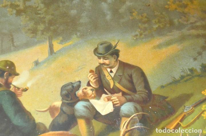 Arte: LA CAZA DEL CIERVO - CROMOLITOGRAFÍA SIGLO XIX - Foto 12 - 189305347