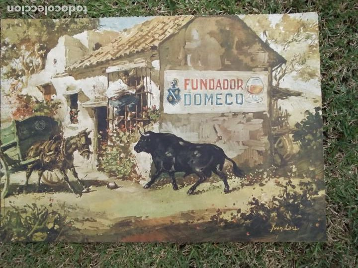 Arte: Cromolitografia antigua de JUAN LARA - FUNDADOR DOMECQ - Foto 3 - 184760088