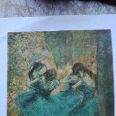 Arte: EDGAR DEGAS BAILARINAS EN AZUL CROMOLITOGRAFIA DADA DE ALQUIL. Lote 191276210