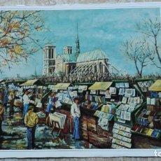 Arte: PARÍS NOTRE DAN CALLE DE LOS MARCHANTES CROMOLITOGRAFIA. Lote 191276403