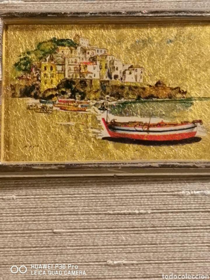 Arte: Cromolitografia realizada en hoja de oro de 23 kilates - Foto 2 - 192494300