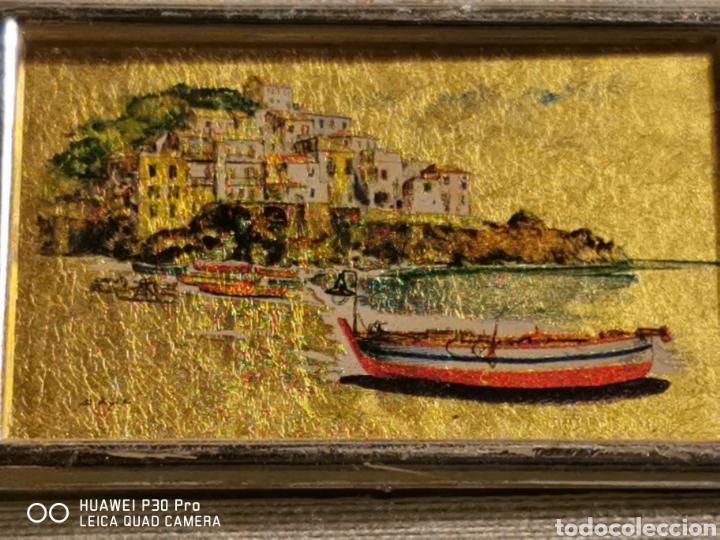 Arte: Cromolitografia realizada en hoja de oro de 23 kilates - Foto 3 - 192494300