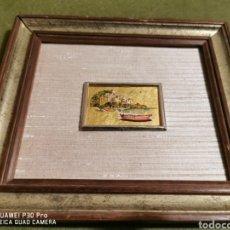 Arte: CROMOLITOGRAFIA REALIZADA EN HOJA DE ORO DE 23 KILATES. Lote 192494300