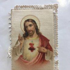 Arte: ESTAMPA RELIGIOSA. CROMOLITOGRAFIA SOBRE CARTON Y BORDE DE PUNTILLA. SGDO. CORAZÓN DE JESÚS.. Lote 213272067