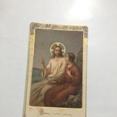 Art: ESTAMPA RELIGIOSA. SEÑOR DÍGNATE HABLAR... RCDO. PROFESIÓN RELIGIOSA. SOLSONA, 1922.. Lote 193035433