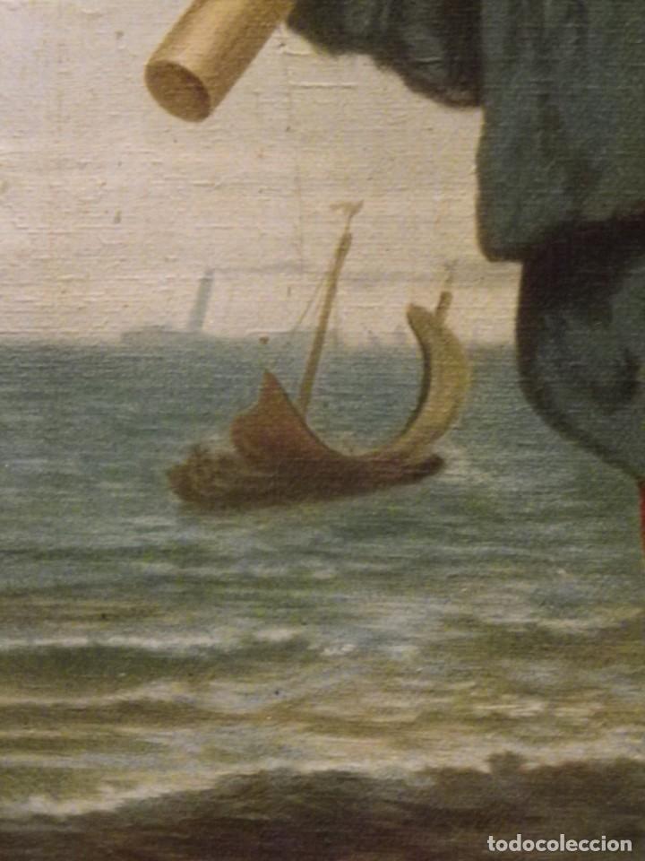 Arte: Pareja de pescadores.Cromolitografía S-XIX - Foto 11 - 193570006