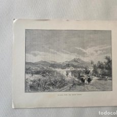 Arte: MALAGA , FROM THE SUGAR FIELDS BY EDWARD T. COMPTON DE 1890 , LITOGRAFIA. Lote 193574332