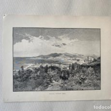 Arte: MALAGA , LOOKING WEST BY EDWARD T. COMPTON DE 1890 , LITOGRAFIA. Lote 193574930