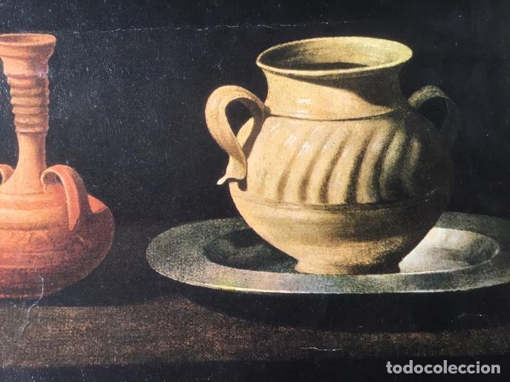 Arte: Bodegón Zurbaran, técnica oleograbado por el Prado , medidas 75 x 40 cm - Foto 4 - 193759693