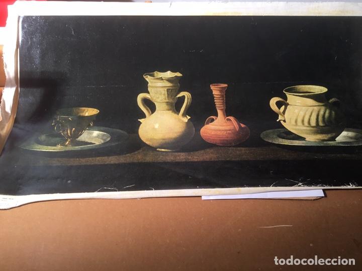 Arte: Bodegón Zurbaran, técnica oleograbado por el Prado , medidas 75 x 40 cm - Foto 5 - 193759693