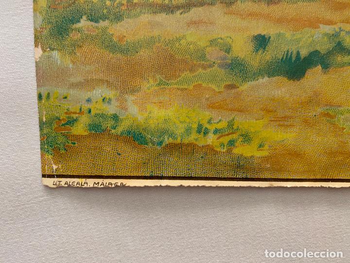 Arte: cromolitografía original de alcalá MÁLAGA , santo . medidas 50 x 36,5 cm. - Foto 3 - 193983456