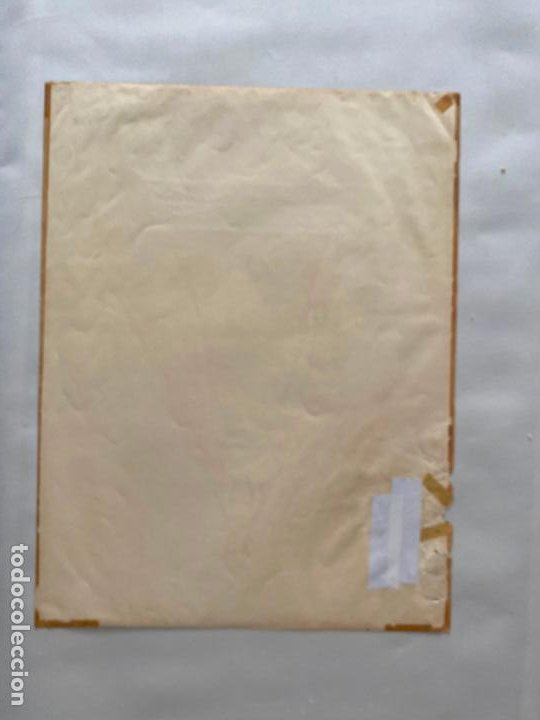 Arte: cromolitografía original posible de alcalá MÁLAGA , virgen de la esperanza . medidas 52 x 39,6 cm. - Foto 2 - 193983525