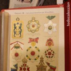 Arte: ORDENES DE PAISES NO EUROPEOS / ANTIGUA Y ORIGINAL LITOGRAFIA ALEMANA DEL 1887 CHINA JAPON SIAM. Lote 197254372