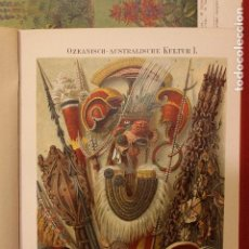 Art: OBJETOS POLINESIA OCEANIA Y AUSTRALIA / ANTIGUA Y ORIGINAL LITOGRAFIA ALEMANA DEL 1887. Lote 197257610