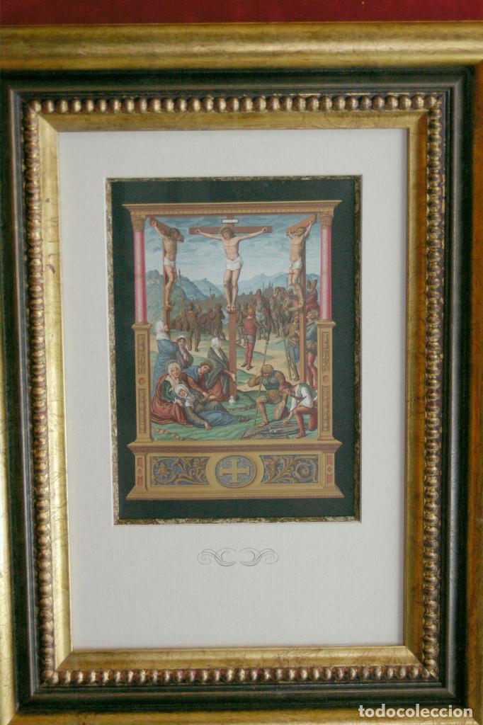LE CALVAIRE CROMOLITOGRAFIA FIRMIN DIDOT 1877 (Arte - Cromolitografía)