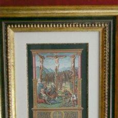 Arte: LE CALVAIRE CROMOLITOGRAFIA FIRMIN DIDOT 1877. Lote 199406460