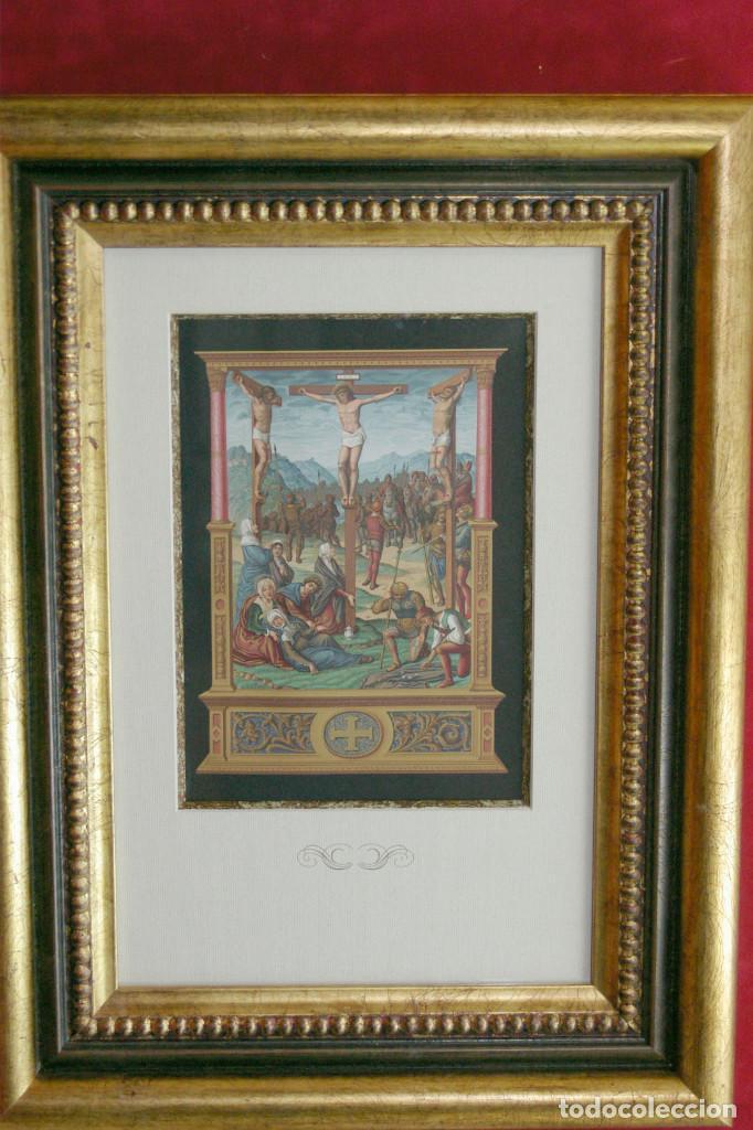 Arte: Le calvaire Cromolitografia Firmin Didot 1877 - Foto 2 - 199406460