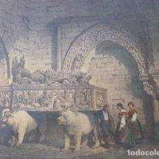 Arte: BETANZOS LA CORUÑA SEPULCRO DE FERNAN PEREZ DE ANDRADE ANTIGUA CROMOLITOGRAFIA 24 X 32 CMTS. Lote 200107320