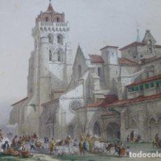 Arte: BURGOS MONASTERIO DE LAS HUELGAS ANTIGUA CROMOLITOGRAFIA 22 X 27 CMTS. Lote 200107572