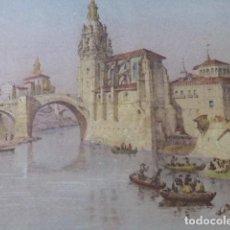 Arte: BILBAO IGLESIA DE SAN ANTON ANTIGUA CROMOLITOGRAFIA 24 X 32 CMTS. Lote 200110207