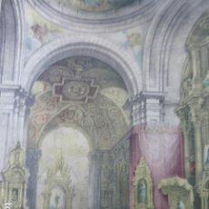 Arte: MADRID CAPILLA DE SAN ISIDRO EN SAN ANDRES ANTIGUA CROMOLITOGRAFIA 28,5 X 30,5 CMTS. Lote 200111658