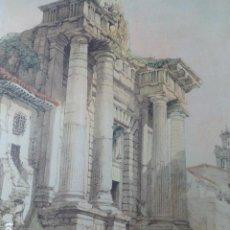Arte: CORDOBA PUERTA DE SEVILLA ANTIGUA CROMOLITOGRAFIA 28 X 31,5 CMTS. Lote 200111765