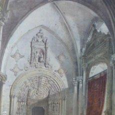 Arte: TOLEDO CATEDRAL PORTADA DE LA CAPILLA DE LA TORRE ANTIGUA CROMOLITOGRAFIA 28 X 29,5 CMTS. Lote 200111878
