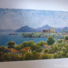 Arte: CASTRO URDIALES CANTABRIA VISTA CROMOLITOGRAFIA 1905 POR ARTISTA INGLES WIGRAM. Lote 200158527