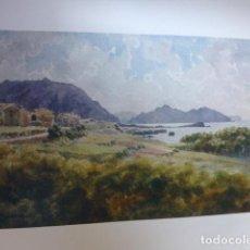 Arte: SANTOÑA CANTABRIA VISTA CROMOLITOGRAFIA 1905 POR ARTISTA INGLES WIGRAM. Lote 200158668