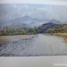 Arte: ARRIONDAS ASTURIAS VALLE DEL SELLA CROMOLITOGRAFIA 1905 POR ARTISTA INGLES WIGRAM. Lote 200159225