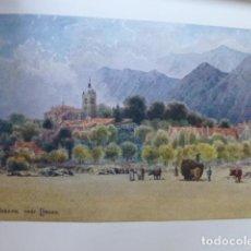 Art: POSADA DE LLANES ASTURIAS VISTA CROMOLITOGRAFIA 1905 POR ARTISTA INGLES WIGRAM. Lote 200159471