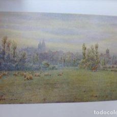 Art: LEON VISTA CROMOLITOGRAFIA 1905 POR ARTISTA INGLES WIGRAM. Lote 200159692