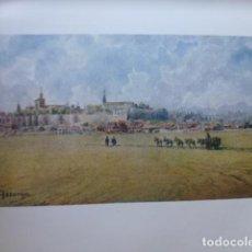 Arte: ASTORGA LEON VISTA CROMOLITOGRAFIA 1905 POR ARTISTA INGLES WIGRAM. Lote 200159862