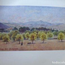 Arte: PONFERRADA LEON EL BIERZO VISTA CROMOLITOGRAFIA 1905 POR ARTISTA INGLES WIGRAM. Lote 200159978