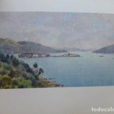 Art: VIGO PONTEVEDRA LA BAHIA CROMOLITOGRAFIA 1905 POR ARTISTA INGLES WIGRAM. Lote 200161272
