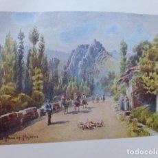 Art: POLA DE GORDON ASTURIAS CARRETERA CROMOLITOGRAFIA 1905 POR ARTISTA INGLES WIGRAM. Lote 200164521