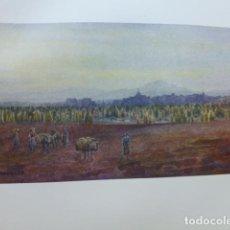 Art: BENAVENTE ZAMORA VISTA CROMOLITOGRAFIA 1905 POR ARTISTA INGLES WIGRAM. Lote 200164608