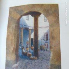 Arte: AVILA UN PATIO CROMOLITOGRAFIA 1905 POR ARTISTA INGLES WIGRAM. Lote 200164936